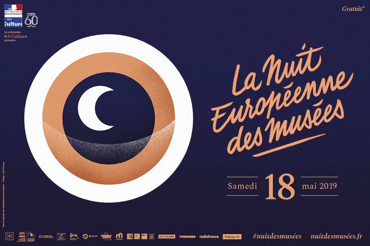 Affiche Nuit europeenne des musees 2019